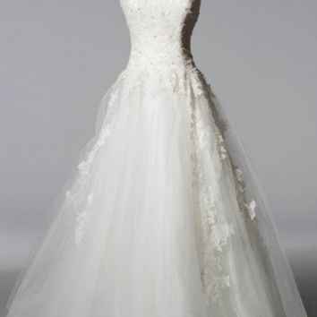 KCW1531 Tulle A-line Wedding Dress with Chapel Train by Kari Chang Eternal