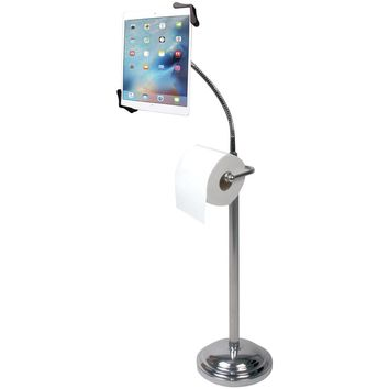 Cta Digital Tablet Pedestal Stand With Roll Holder