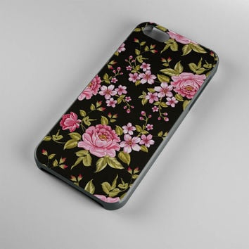 DS275-iPhone Case - Iphone 5 case-Iphone 5s case - Iphone 4 case - Iphone 4s case - Iphone Cover -Black Roses Flowers iPhone Case Vintage