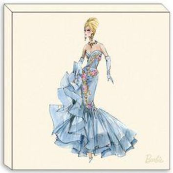Canvas Edition: Blue Dress Barbie 10Th Anniversary