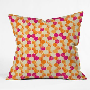 Pattern State Hex Throw Pillow