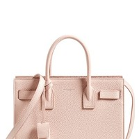 Saint Laurent 'Baby Sac de Jour' Grained Calfskin Leather Tote