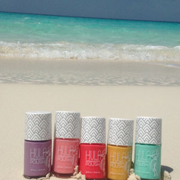 Hula Girl Nail Polish Gift Sets ~ Mermaid & Beach Bum Approved!
