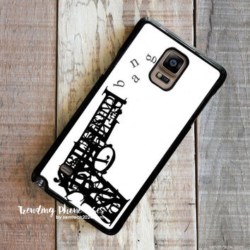 Pistol Bang Typhography  Samsung Galaxy Note 4 Case Cover for Note 3 Note 2 Case