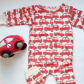 Red Race Car Baby Gift Set