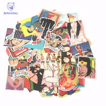 50PCS dirty styling bad joke sexual girl sticker bomb waterproof graffiti Doodle sticker skateboard decal toy sticker hellaflush
