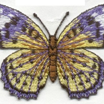 Beautiful BUTTERFLY Purple and YELLOW Monarch butterfly Applique Iron or Sew On patch by Cedar Creek patch Shop on Etsy