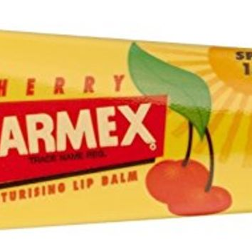 Carmex Cherry Lip Balm SPF 15 0.35 oz (Pack of 12)