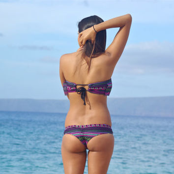 MANOA: REVERSIBLE Scrunch Butt brazilian Bikini Bottoms Create Your Own