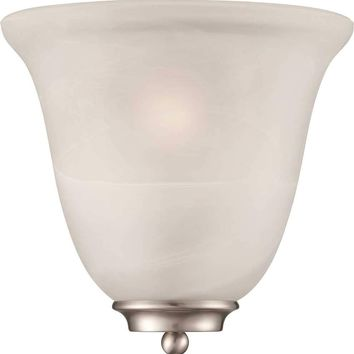 Monument® Decorative Wall Sconce, Alabaster Glass, 9-5-8 X 10 In., Uses 1 60-watt Medium-base Incandescent Lamp