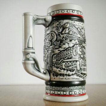 1985 Avon Beer Stein Train, Vintage Avon Beer Stein Train Design 80s