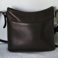 Vintage COACH Crossbody Brown Leather Handbag