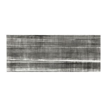 "CarolLynn Tice ""Grey Accent"" Dark Neutral Bed Runner"