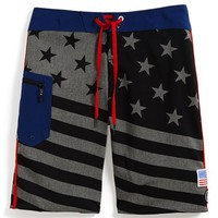 Boy's Volcom 'Merry Kuh' Board Shorts,