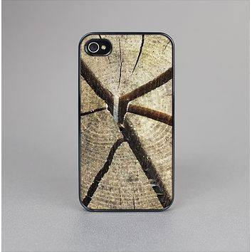 The Cracked Wooden Stump Skin-Sert Case for the Apple iPhone 4-4s