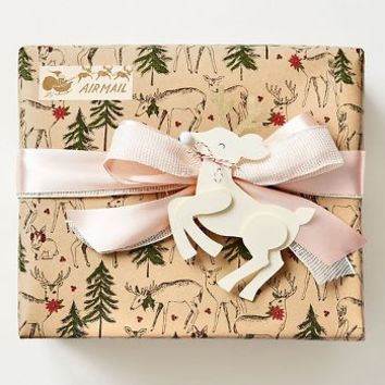 Holiday Woodland Critters Wrapping Paper