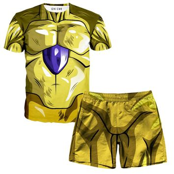 Frieza Armor T-Shirt And Shorts Rave Outfit