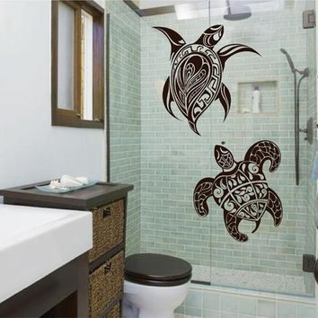 ik2515 Wall Decal Sticker beautiful sea turtles living room bedroom bathroom