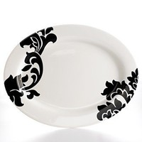 Martha Stewart Collection Dinnerware, Lisbon Black Oval Platter - Serveware - Dining & Entertaining - Macy's