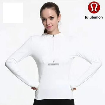 Lululemon Women Fashion Gym Yoga Long Sleeve Shirt Top Tee