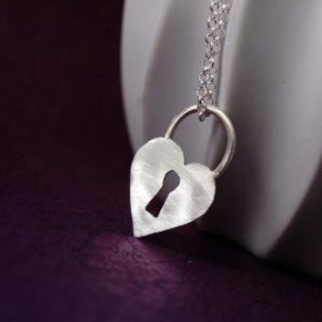 Key to my Heart Sterling Silver Necklace by Markhed by MarKhed