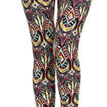 VIV Collection Popular Printed Brushed Buttery Soft Leggings Regular and Plus 40+ Designs List 4