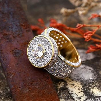 Iced Out Cluster Ring