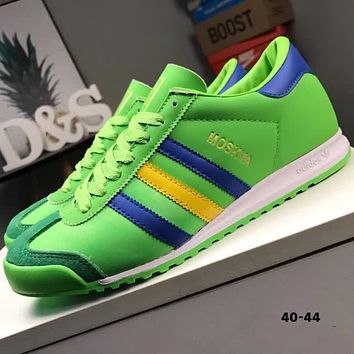 ADIDAS MOSKVA 2018 new retro stitching casual fashion running shoes F-CQ-YDX green
