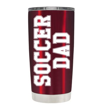 TREK Soccer Dad on Translucent Red 20 oz Tumbler Cup