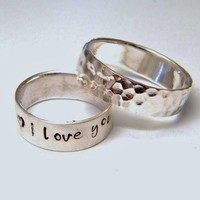 RING Hand Stamped Sterling Personalized by SomethingAboutSilver