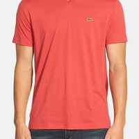 Men's Lacoste Pima Cotton Jersey V-Neck T-Shirt,