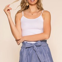Festive Ready Stripe Shorts - Blue