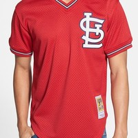 Men's Mitchell & Ness 'Ozzie Smith - St. Louis Cardinals' Authentic Mesh BP Jersey,