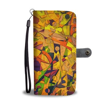Abstract Art Phone Wallet Case