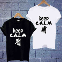 Custom Design T shirt 5 second of summer, keep calm 5sos,5sos Unisex available size men,woman (S,M,L,XL,2XL)