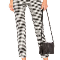 superdown Dora Gingham Zip Pants in Black & White | REVOLVE
