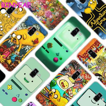 BINYEAE Adventure Time Beemo Jake Finn Lumpy Style Clear Soft TPU Phone Cases Cover for Samsung A5 A3 A7 A8 2017 2016 2018