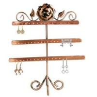 "13"" Copper Color Jewelry Earring Holder / Earring Tree / Earring Oraganizer / Earring Stand / Earring Display"