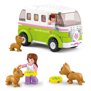 Sluban Building Block Girl Dream Friends Camper Car 158pcs Educational Bricks Toy-Boy No retail box