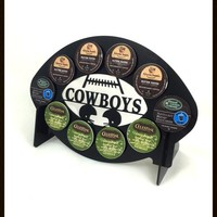 Dallas Cowboys Football 10 K Cup Holder and Coffee Pod Display