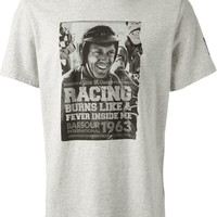 Barbour By Steve Mc Queen Racing Print T-Shirt