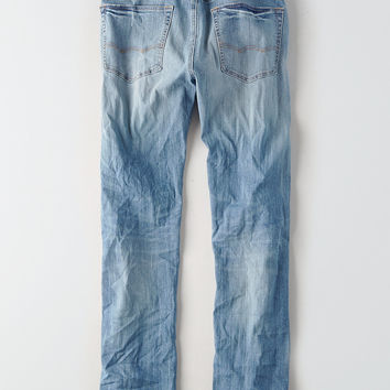AEO 360 Extreme Flex Relaxed Straight Jean, Medium Wash