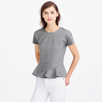 STRUCTURED FLUTTER TEE