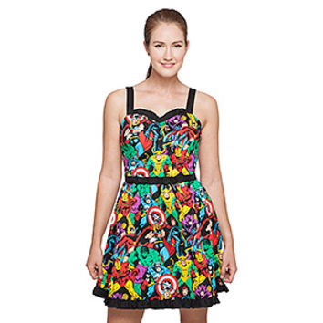 Marvel Comics Sweetheart Dress