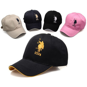 Big sale 2015 Snapback hats women & men polo baseball cap sports hat summer golf caps outdoor casual cotton sunhat travel touca
