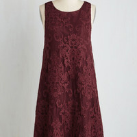 Mid-length Sleeveless Shift Swingy and Sweet Dress