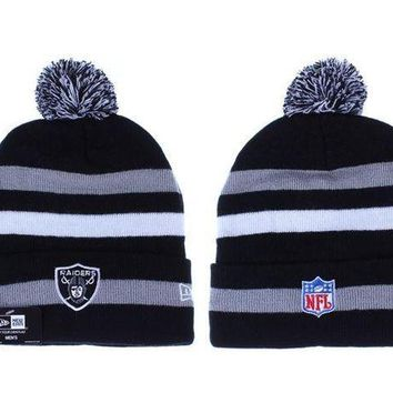 ESB8KY Oakland Raiders Beanies New Era NFL Football Cap
