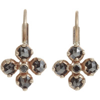 Anaconda Black Diamond Small Quadrifoglio Earrings at Barneys.com