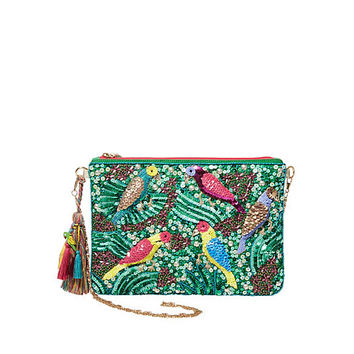 POOLSIDE LIVING CLUTCH: Betsey Johnson