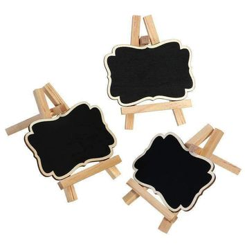 3Pcs Framed Chalkboard Place Cards With Easel - Size S